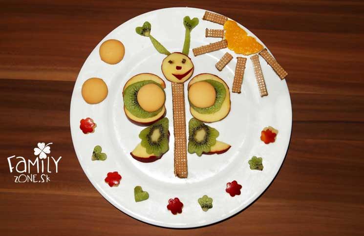 motyl jedlo inspirácia olovrant obrázkové jedlo