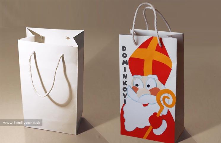 návod ako vyrobiť papierovú darčekovú tašku