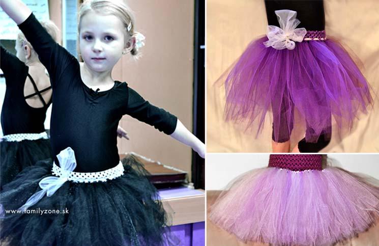 Tutu sukničky - suknička na tanečnú